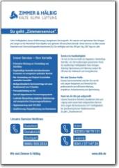 Infoblatt Service